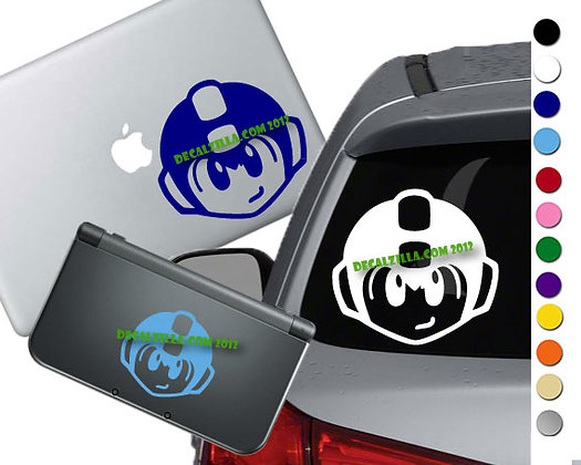 Mega Man - Vinyl Decal Sticker For cars, laptops, and more!