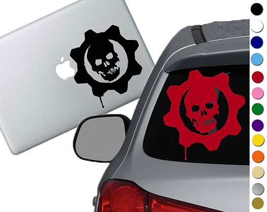 """Sale! 1.5"""" Gears of War  -Mini Vinyl Decal Sticker For laptops and more!"""