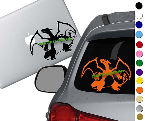 Pokemon - Charizard - Vinyl Decal Sticker - For cars, laptops, and more!
