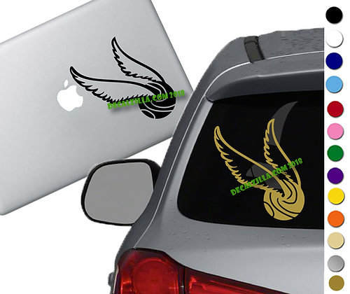 Harry Potter- Golden Snitch - Vinyl Decal Sticker - For car, laptops and more!