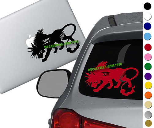 Final Fantasy 7 - Red XIII - Vinyl Decal Sticker - For cars, laptops  and more!