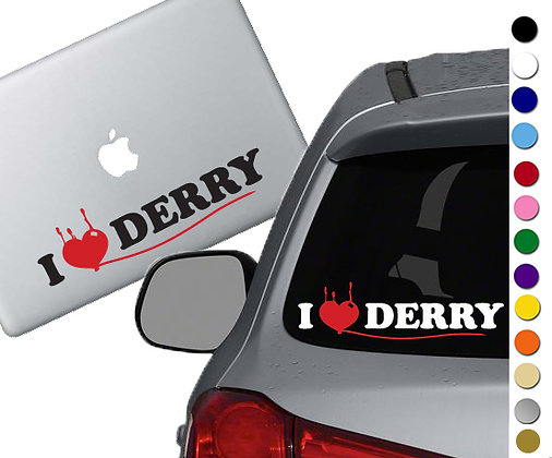 It- I heart Derry - Vinyl Decal Sticker - For cars, laptops and more!
