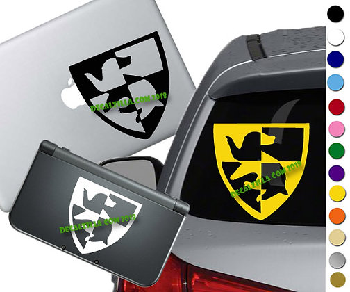 Harry Potter Hufflepuff Crest- Vinyl Decal Sticker For cars, laptops, and more!