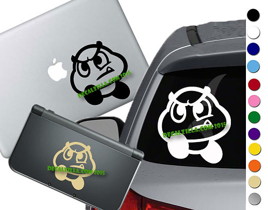 Mario Goomba - Vinyl Decal Sticker For cars, laptops, and more!