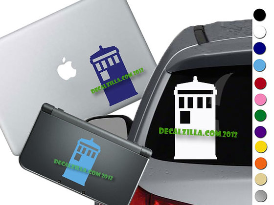 Dr. Who Tardis Mini - Vinyl Decal Sticker For cars, laptops, and more!