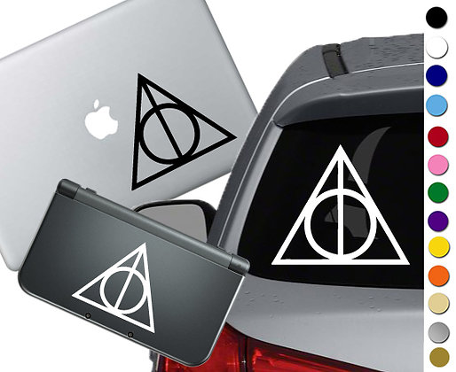 Harry Potter Deathly Hallows- Vinyl Decal Sticker For cars, laptops, and more!