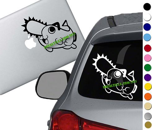 Chainsaw Man - Pochita - Vinyl Decal Sticker - For cars, laptops and more!