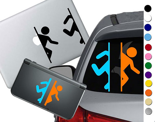 Portal Symbol - Vinyl Decal Stickers For cars, laptops, and more!