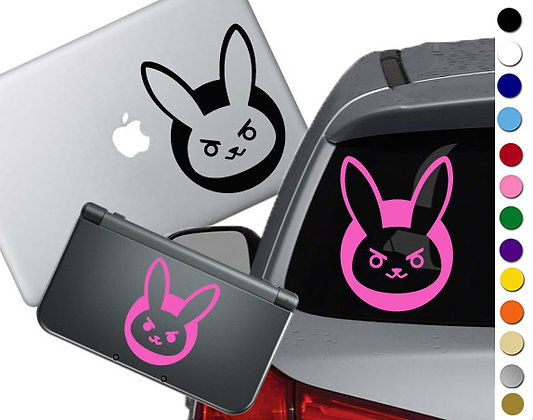 Overwatch - D'Va Bunny - Vinyl Decal Sticker For cars, laptops, and more!