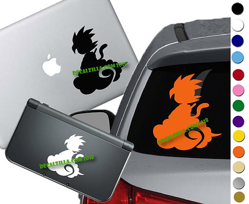Anime Kid on Nimbus - Vinyl Decal Sticker For cars, laptops, and more!