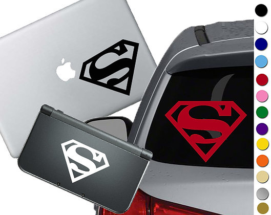 Superman Symbol - Vinyl Decal Sticker For cars, laptops, and more!