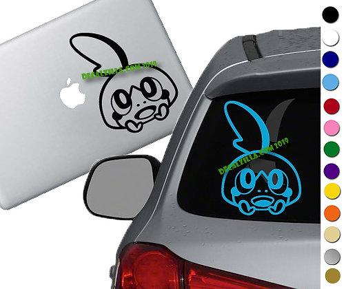 Pokemon- Sobble - Vinyl Decal Sticker - For cars, laptops and more!