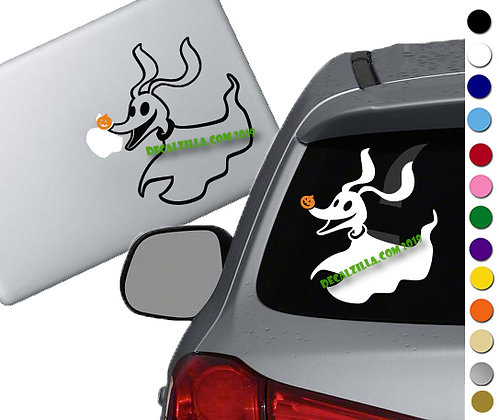 Nightmare Before Christmas  Zero- Decal Sticker for cars, laptops, and more!