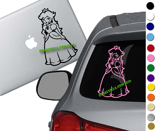 Mario - Princess Peach - Vinyl Decal Sticker - For cars, laptops and more!
