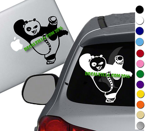 Kung Fu Panda - Po- Vinyl Decal Sticker - For cars, laptops and more!