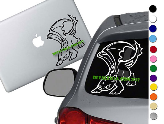 How to Train your Dragon Angry Toothless -Vinyl Decal Sticker -For cars and more