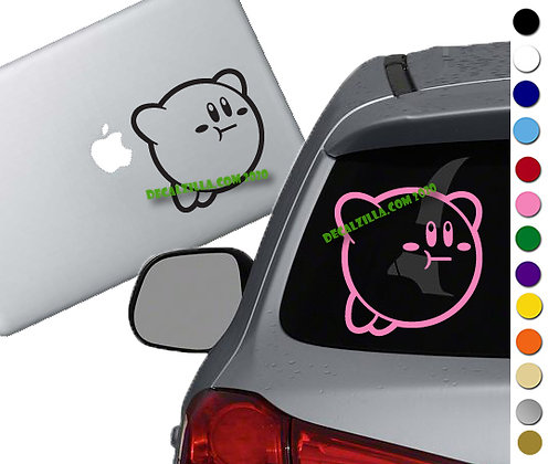 Kirby Flying - Vinyl Decal Sticker - For cars, laptops and more!