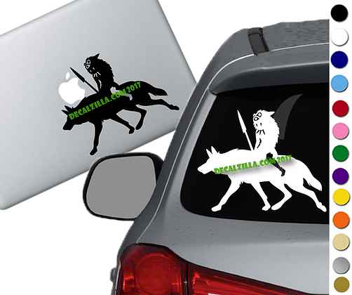 Princess Mononoke- San - Vinyl Decal Sticker - For cars, laptops, and more!