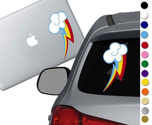 My Little Pony - Rainbow Dash Cutie Mark - Vinyl Decal Sticker