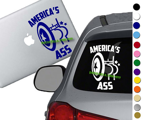 Captain America- America's Ass - Vinyl Decal Sticker For cars, laptops, and more