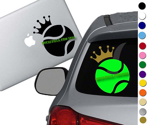 Tennis King or Queen - Vinyl Decal Sticker - For cars, golf carts and more!