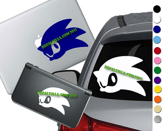 Sonic Silhouette - Vinyl Decal Sticker For cars, laptops, and more!
