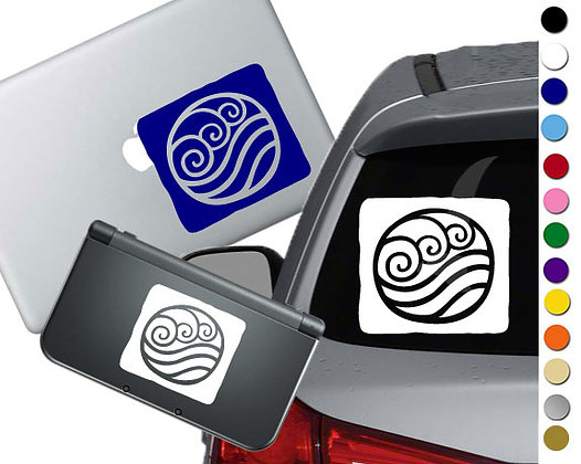 Avatar The Last Airbender- Water - Vinyl Decal For cars, laptops, and more!