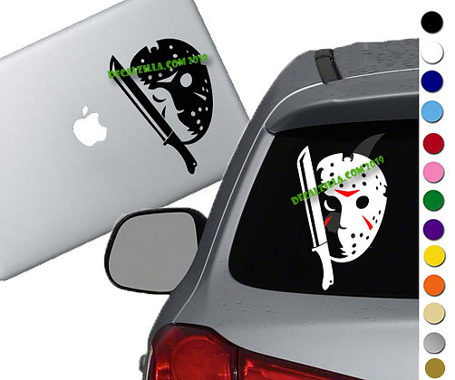 Friday the 13th - Jason - Vinyl Decal Sticker - For cars, laptops and more!