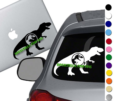 Jurassic Park- T- Rex - Vinyl Decal Sticker - For cars, laptops and more!