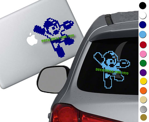 Mega Man Pixel - Vinyl Decal Sticker - For cars, laptops and more!