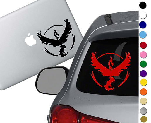 Sale! Pokemon Go Valor - Vinyl Decal Sticker For cars, laptops, and more!