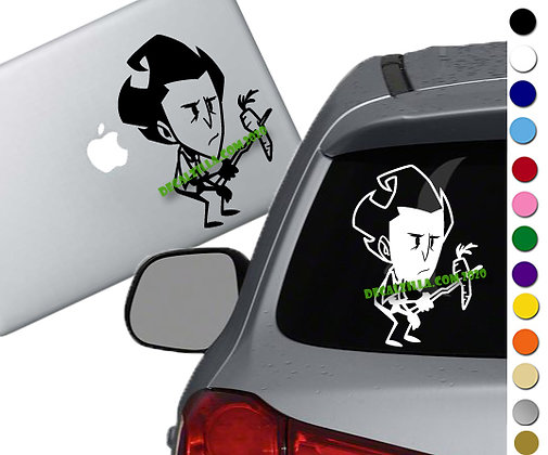 Don't Starve - Wilson - Vinyl Decal Sticker - For cars, laptops and more!