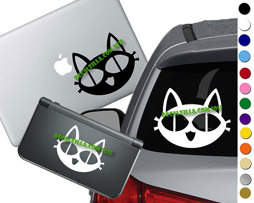 "Sale! 1.5"" Trigun Cat-Mini Vinyl Decal Sticker For laptops and more!"