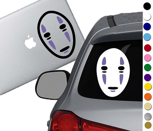 Spirited Away- No Face 2 colors- Vinyl Decal Sticker For cars, laptops, and more