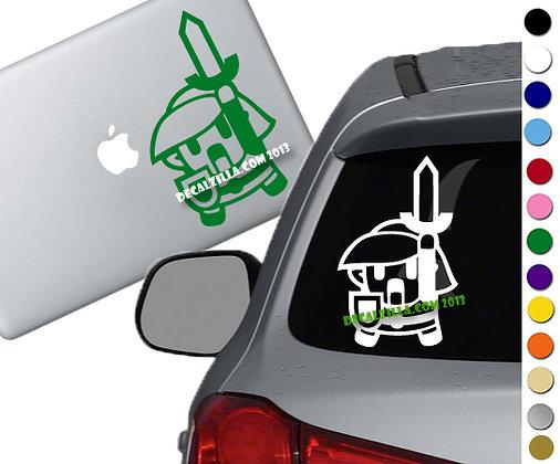 Legend of Zelda - Link - Vinyl Decal Sticker - For cars, laptops and more!