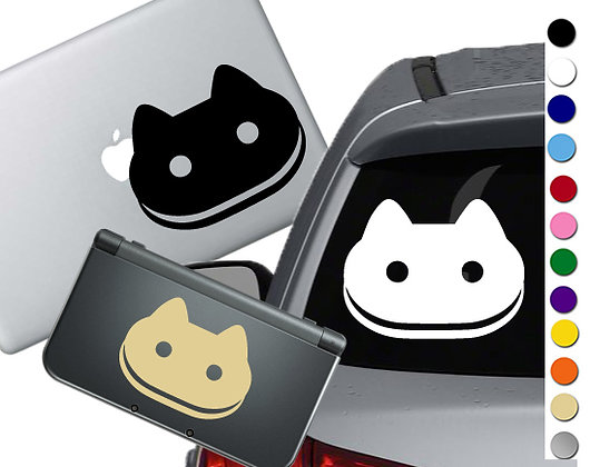 "Sale! 1.5"" Cookie Cat -Mini Vinyl Decal Sticker For laptops and more!"