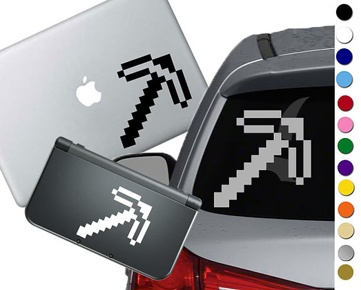 "Sale! 1.5"" Minecraft Pickaxe -Mini Vinyl Decal Sticker For laptops, and more!"