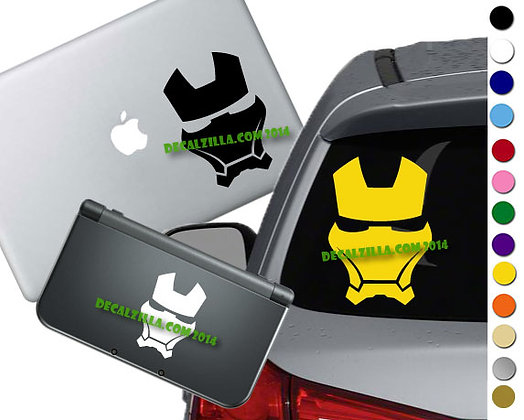 Iron Man Helmet - Vinyl Decal Sticker For cars, laptops, and more!