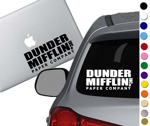 The Office - Dunder Mifflin - Vinyl Decal Sticker - For cars, laptops, and more!