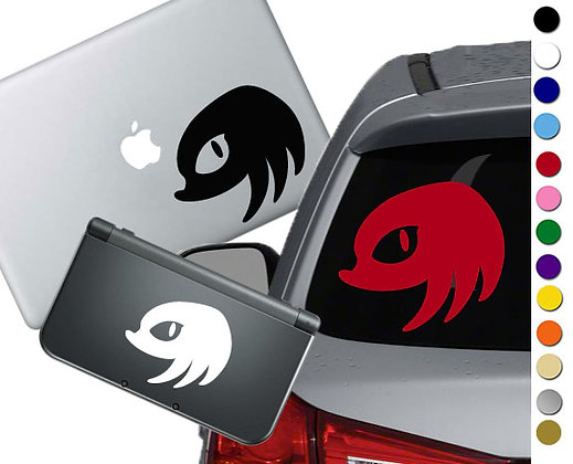 Sonic - Knuckles - Vinyl Decal Sticker For cars, laptops, and more!
