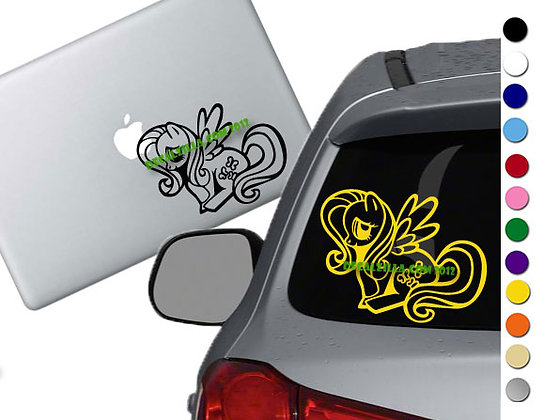 Sale! MLP Flutteryshy -Vinyl Decal Sticker For cars, laptops, and more!