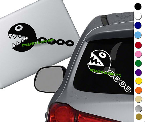 Mario - Chain Chomp - Vinyl Decal Sticker - For cars, laptops, and more!