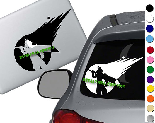 Final Fantasy 7 -Cloud Strife - Vinyl Decal Sticker - For cars, laptops and more