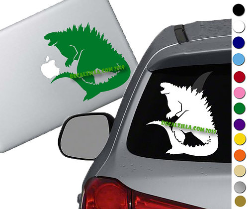 Godzilla Silhouette - Vinyl Decal Sticker - For cars, laptops and more!