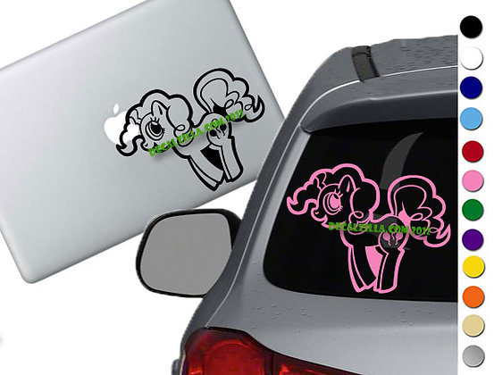 Sale! MLP Pinkie Pie -Vinyl Decal Sticker For cars, laptops, and more!