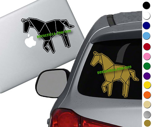 Origami Horse - Vinyl Decal Sticker - For cars, laptops, and more!