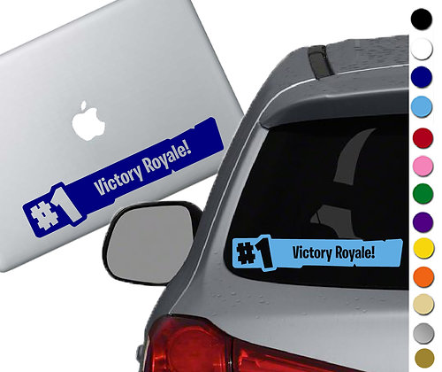 Fortnite - #1 Victory Royal - Vinyl Decal Sticker - For cars, laptops, and more!