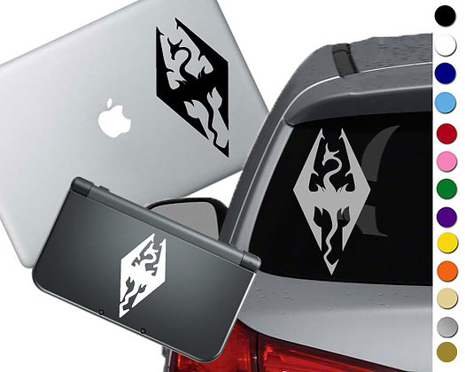 """Sale! 1.5"""" Skyrim -Mini Vinyl Decal Sticker For cars, laptops, and more!"""
