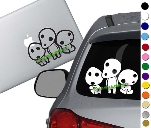 Princess Mononoke- Forest Spirits - Vinyl Decal Sticker - For cars and more!