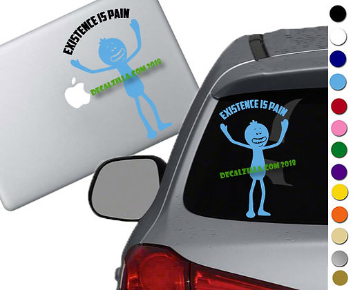 Rick and Morty- Mr. Meeseeks - Vinyl Decal Sticker - For cars, laptops, and more
